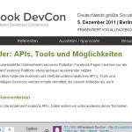 screenshot website Allfacebook devcon