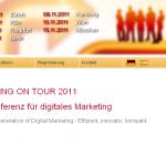 screenshot website marketing on tour