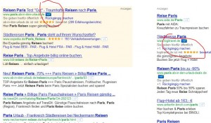 Bild: Google plus 1 in Paid Listings