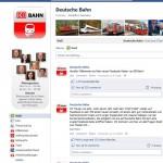 Screenshot: Facebook Fanpage Deutsche Bahn