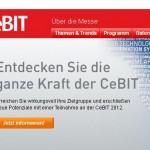Screenshot der Webiste zur CEBIT 2012