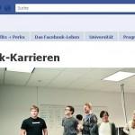 Screenshot der Karrirreseite von Facebook