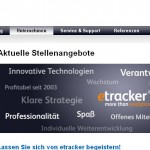 Screenshot der Website etracker