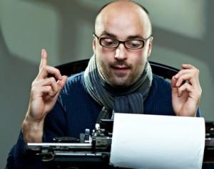 Bild: Journalist mit Schreibmaschine