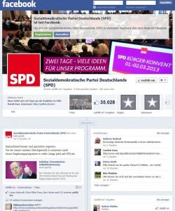 Screenshot: SPD bei Facebook
