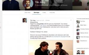 Screenshot: Google+ Profil Videoblog Tilo Jung